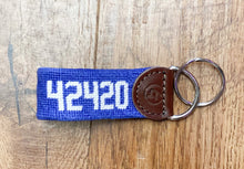 Load image into Gallery viewer, 42420 Zip Code Needlepoint Keychain In Several Colors