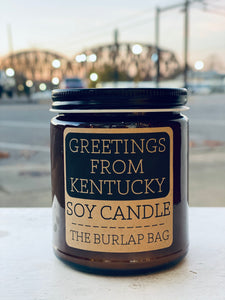 Greetings From Kentucky Soy Candle