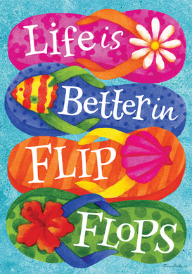 Better in Flip Flops Applique-Double Sided Flag