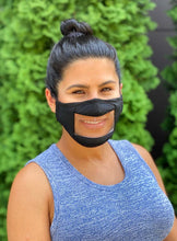 Load image into Gallery viewer, Adult Clear Front Mask-Black