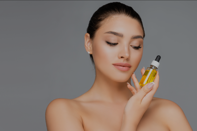 woman with serum