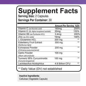 Elderberry Immune Support Supplement - 1 Month Supply
