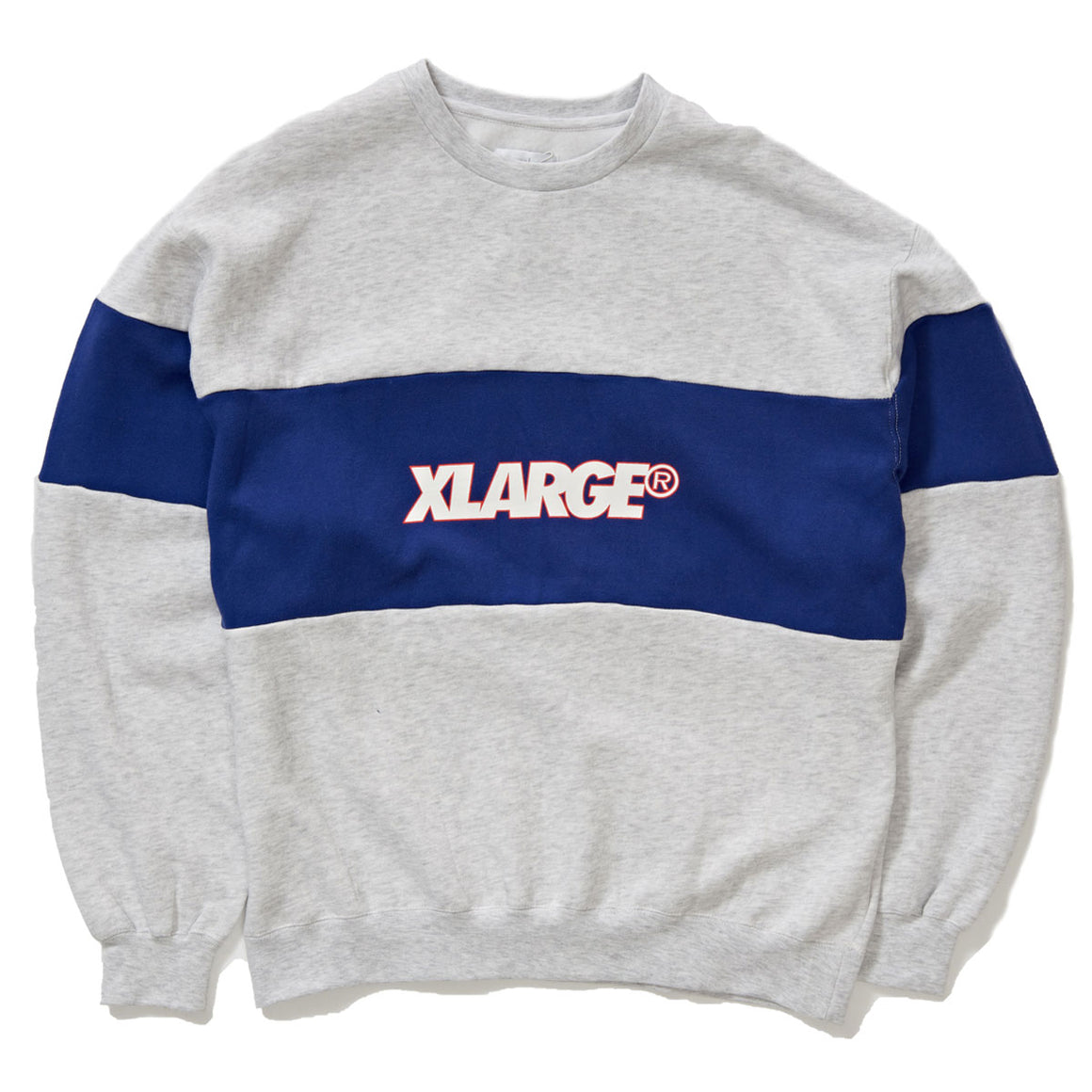 PANELLED XL TEXT CREW