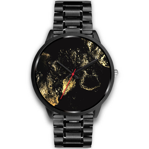 Metro Watch for Men with Original Artwork - Black - Stainless Steel or Leather Band