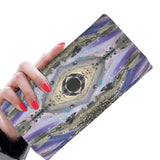 Women's Wallet with Original Artwork - Purple and Gray