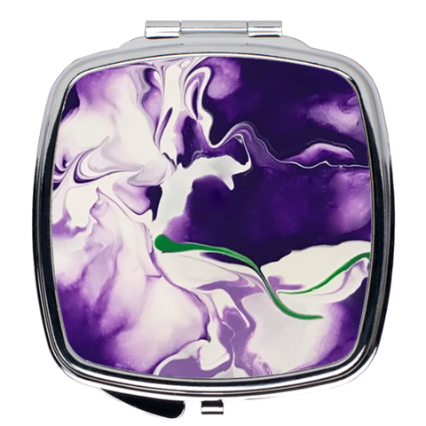 Painted Pansy Compact Mirror