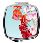Spring Floral Compact Mirror