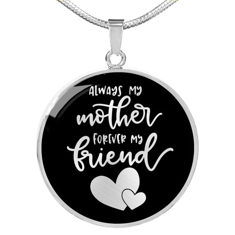 Always My Mother - Personalized Engraved Necklace - Black