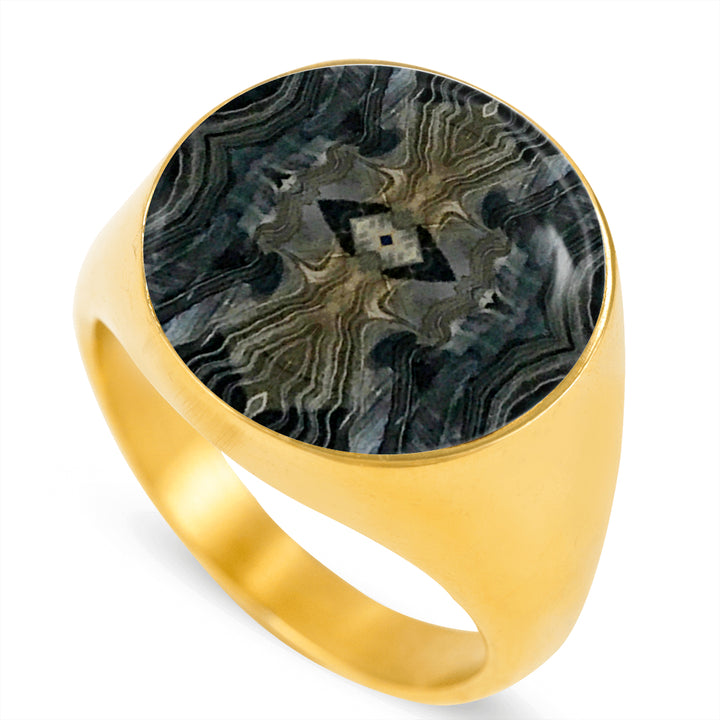 Tribal Signet Ring for Men - Sizes 4-13