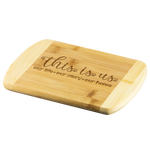 This Is Us Large Bamboo Cutting Board