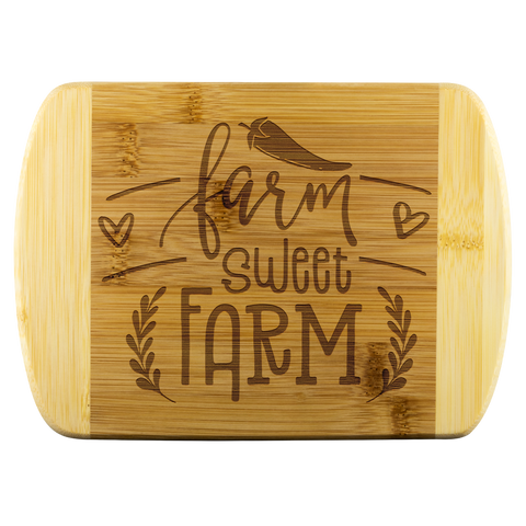 Farm Sweet Farm Bamboo Cutting Board