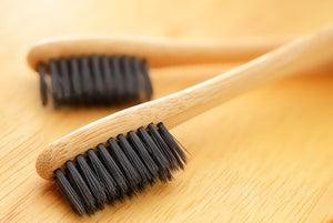 Charcoal-Infused Soft Bristle Bamboo Tooth Brush - Rooted Rituals