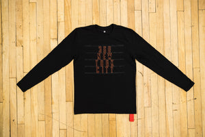 368 New York City Long Sleeve Black Tee