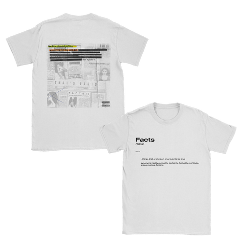 Facts White T-Shirt