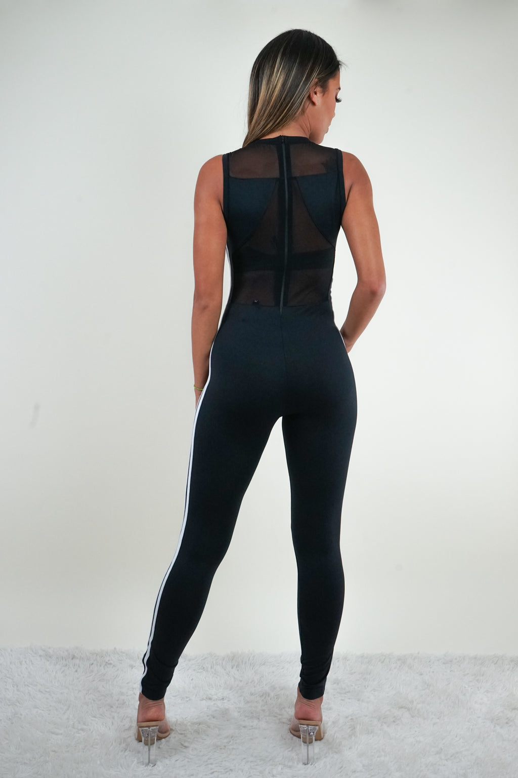Black Sleeveles Jumpsuit