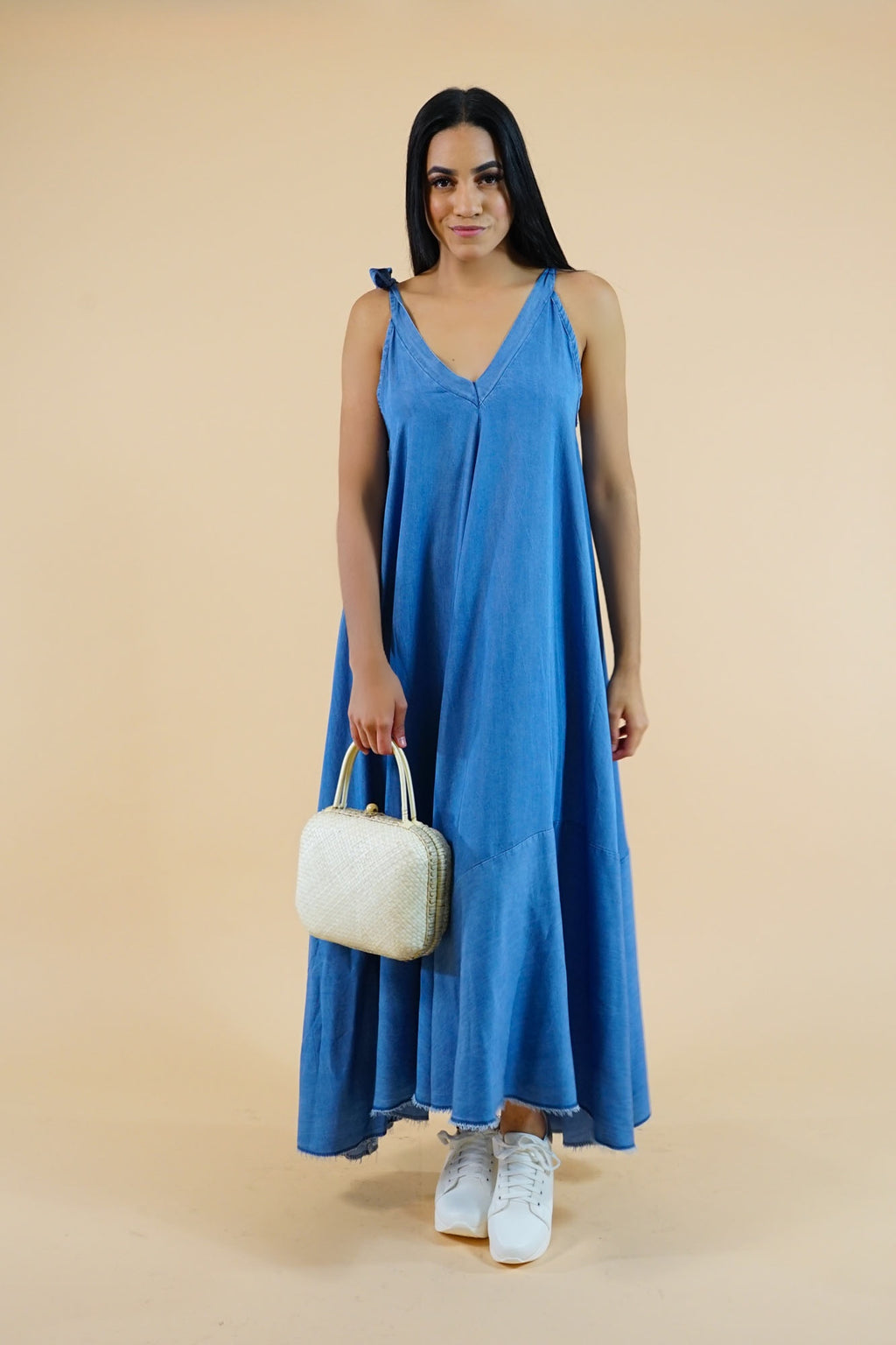 Long Denim Maxi Dress Dress