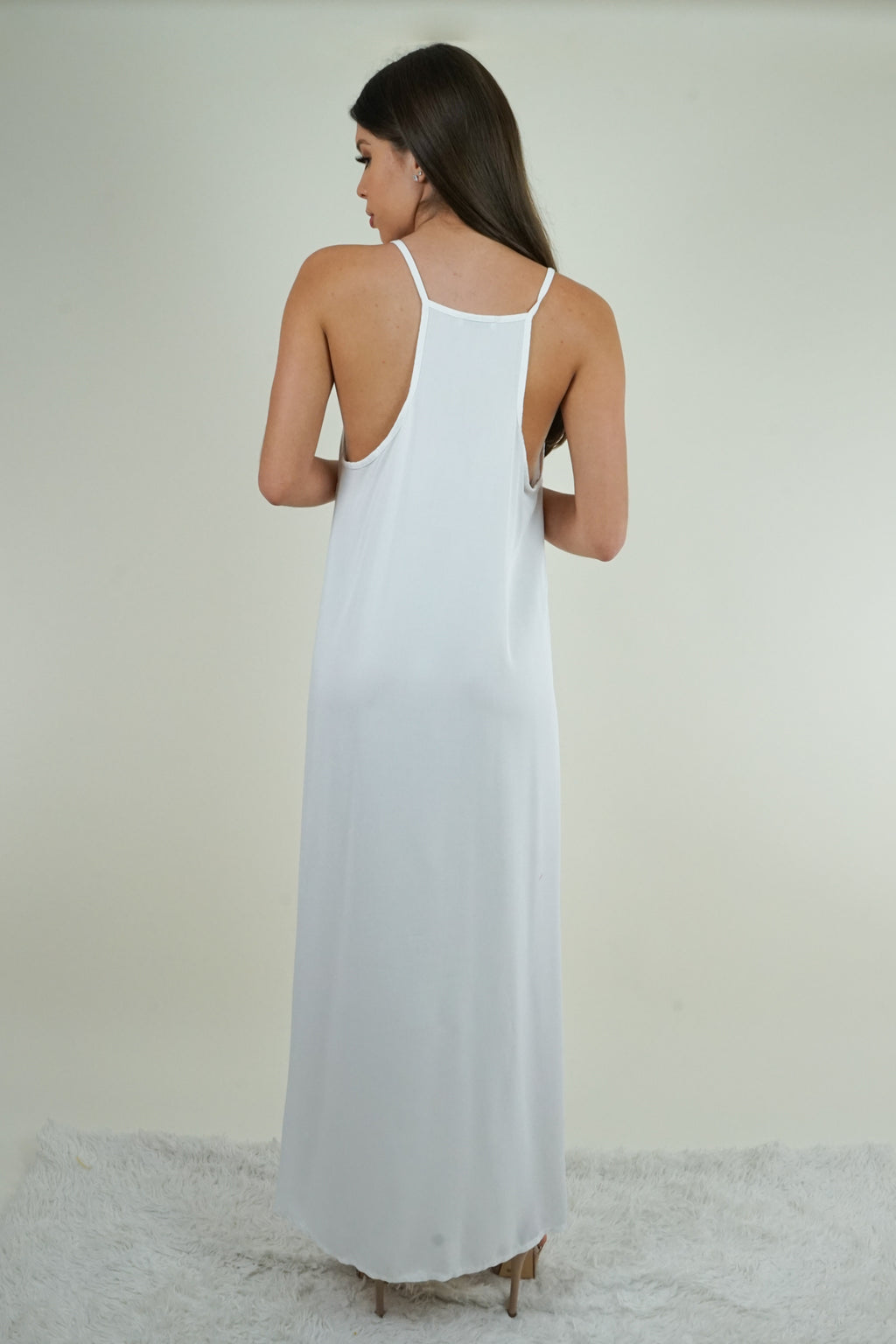 Paradise Sequin White Maxi Dress