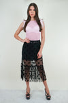 Pretty Black Tiered Skirt