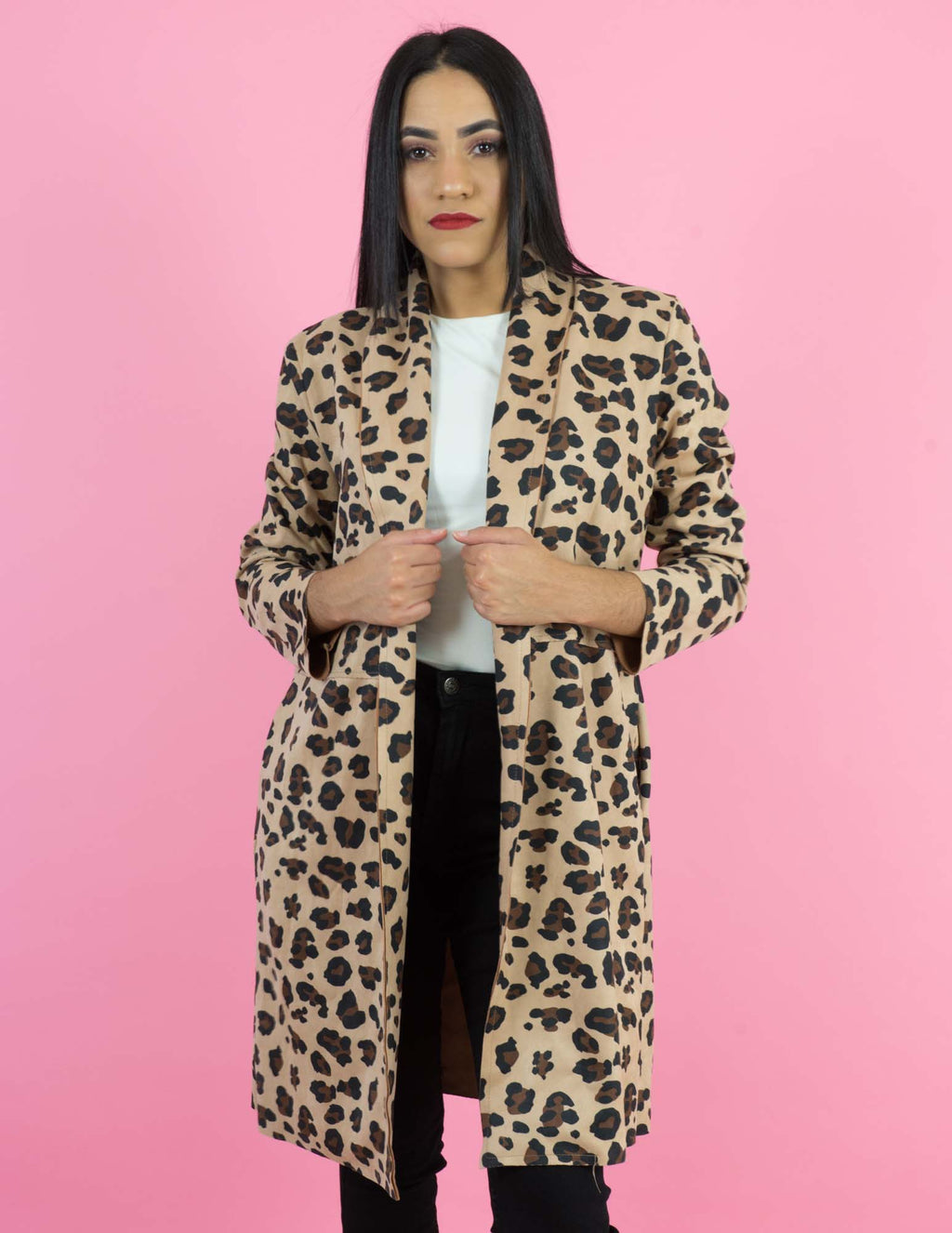 WINTER COLLECTION Chettah Print Long Coat