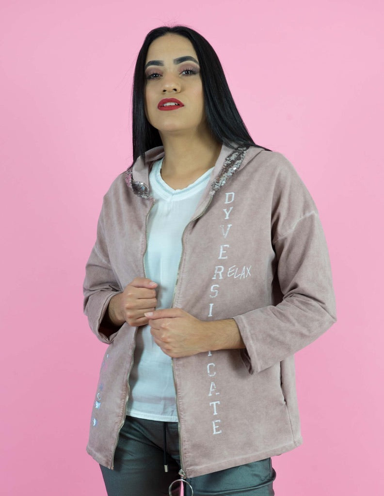WINTER COLLECTION Dusty Pink Hooded Jacket
