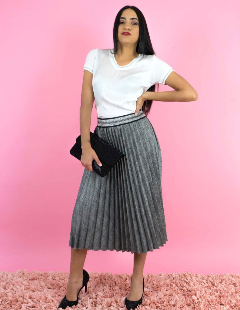 WINTER COLLECTION Grey Pleated Skirt
