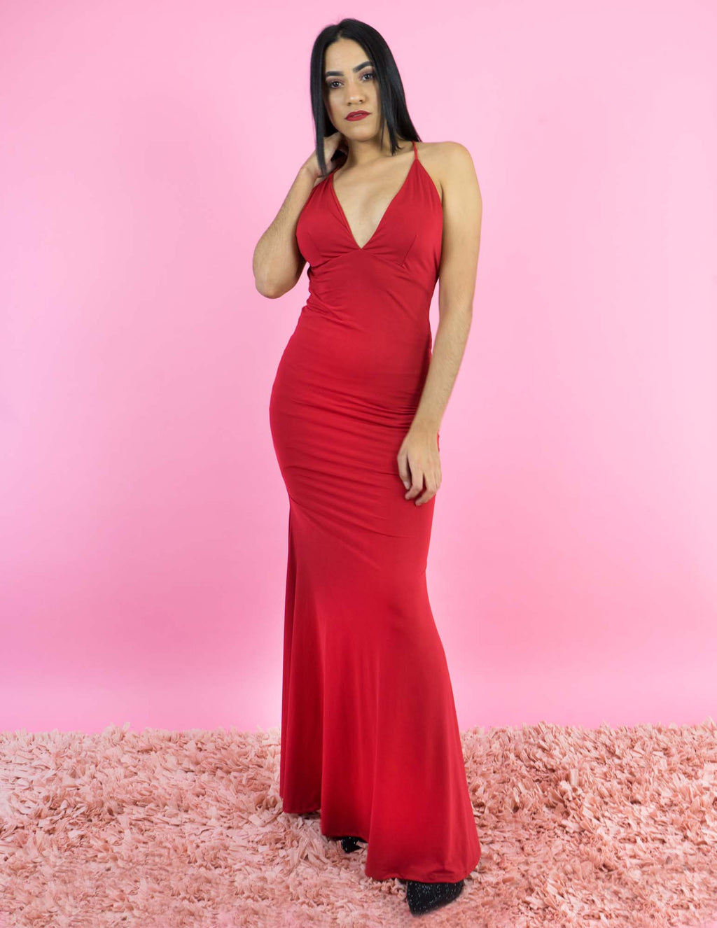 WINTER COLLECTION Long Sexy Red Dress