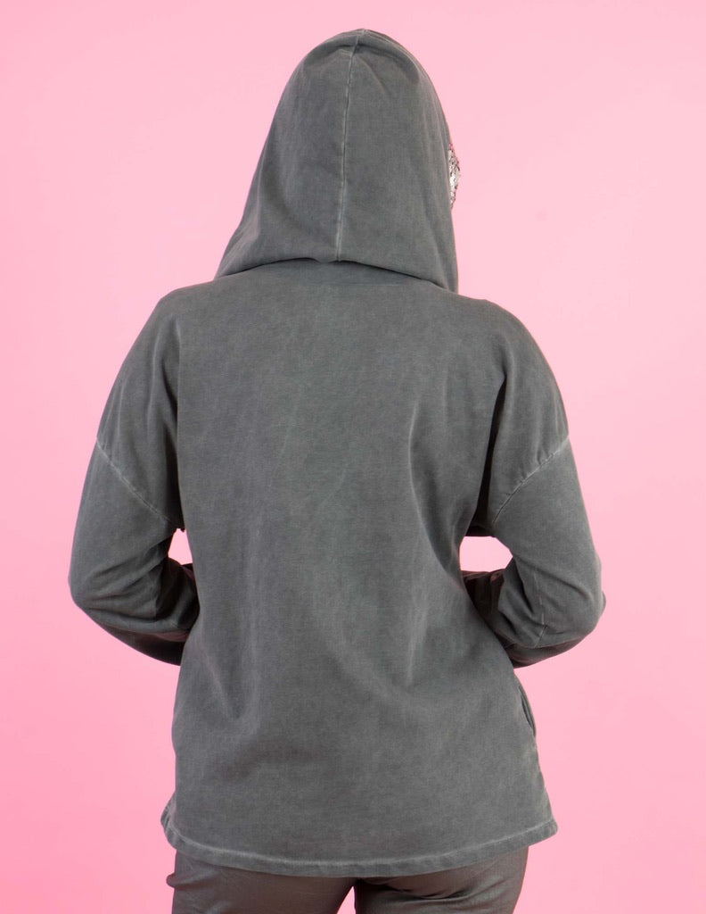 WINTER COLLECTION Dark Grey Hooded Jacket