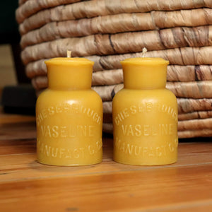 Vaseline, Chesebrough Manufacturing - 2x Beeswax Candle