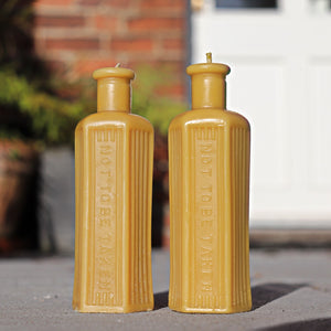 Poison Bottle - 2x Beeswax Candles