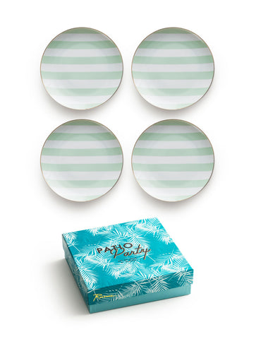 Patio Party Plates Stripe S/4