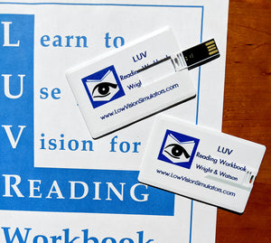 LUV Reading arrives to you on a USB flash drive.
