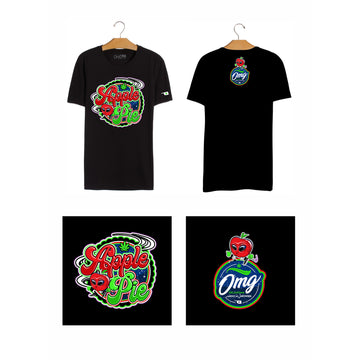 Apple Pie T-Shirt Black, Grass-Hopper Dispensaries