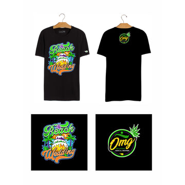 Beach Wedding T-Shirt, Grass-Hopper Dispensaries