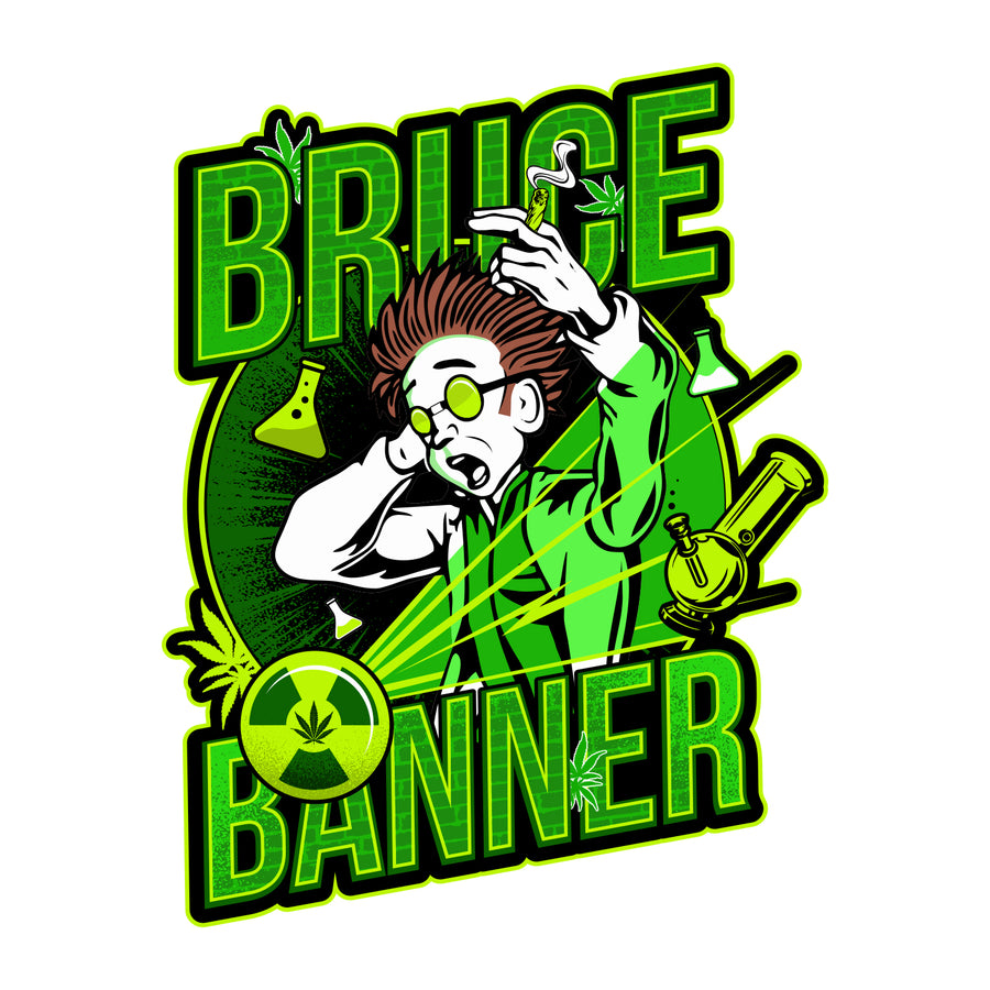 Bruce Banner Sticker, Grass-Hopper Dispensary