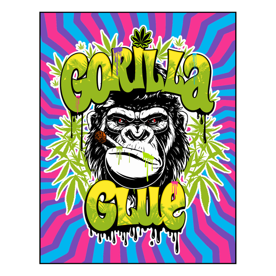 Gorilla Glue Sticker, Grass Hopper Dispensaries