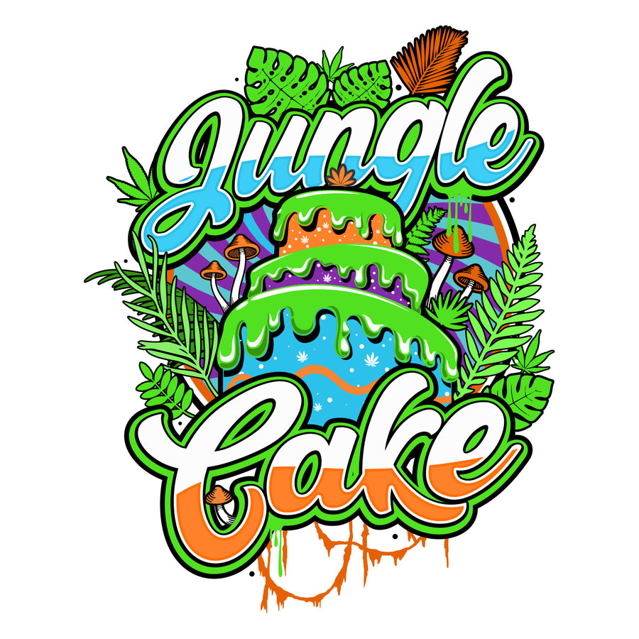 Jungle Cake Sticker, Grass-Hopper Dispensaries
