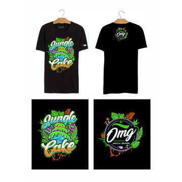Jungle Cake T-Shirt, Grass-Hopper Dispensaries