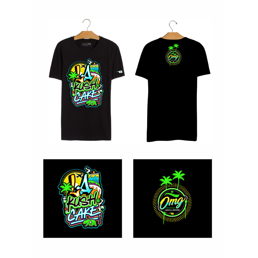 LA Kush Cake T-Shirt, Grass-Hopper Dispensaries