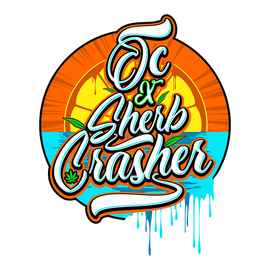 OC & Sherb Crasher Sticker, Grass-Hopper Dispensaries