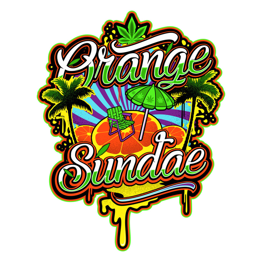 Orange Sundae Sticker, Grass-Hopper Dispensaries