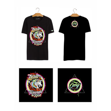 Zkittles & Triangle Kush T-Shirt, Grass-Hopper Dispensaries