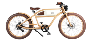 Michael Blast Greaser 500w Electric Bike Cafe Racer - Sand Beige and White