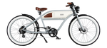 Michael Blast Greaser 500w Electric Bike Cafe Racer - Grey/White