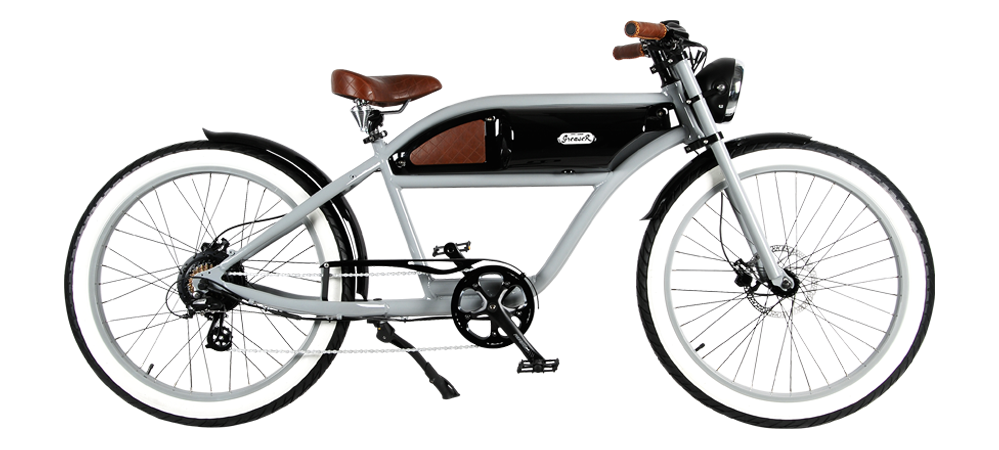 Michael Blast Greaser 500w Electric Bike Cafe Racer - Grey/Black