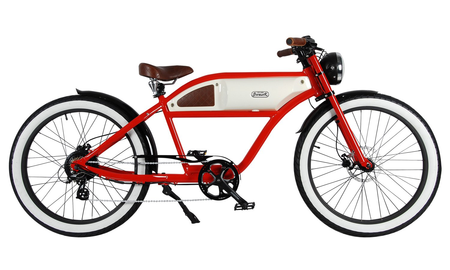 Michael Blast Greaser 500w Electric Bike Cafe Racer - red and white