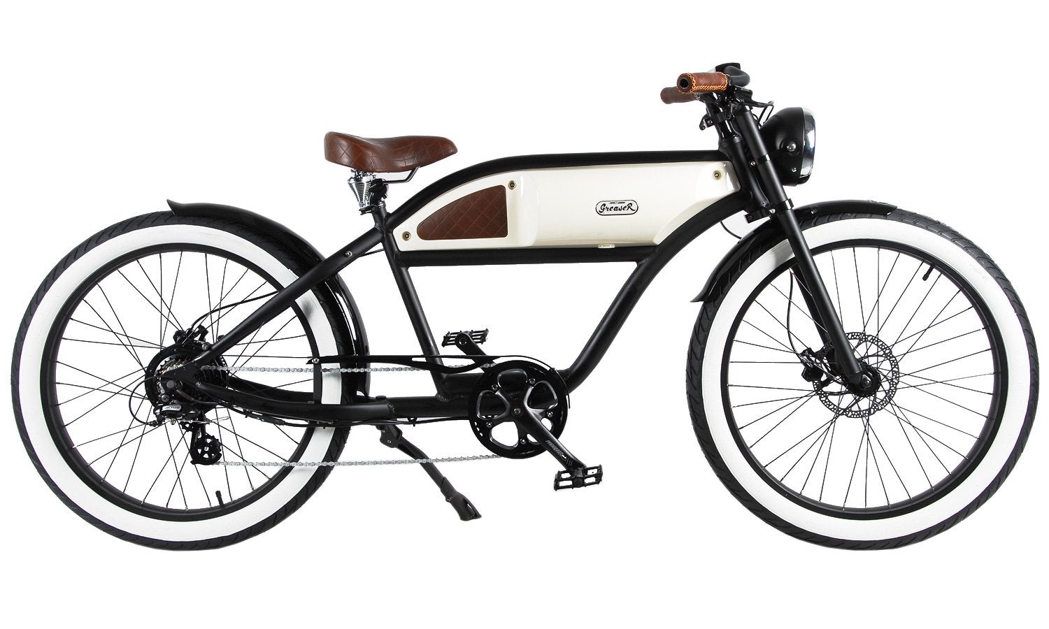 Michael Blast Greaser 500w Electric Bike Cafe Racer - Black/White