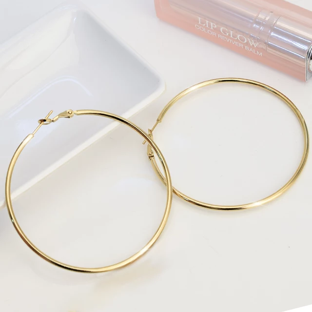 Gold Plated Hoops - Trendznstuff