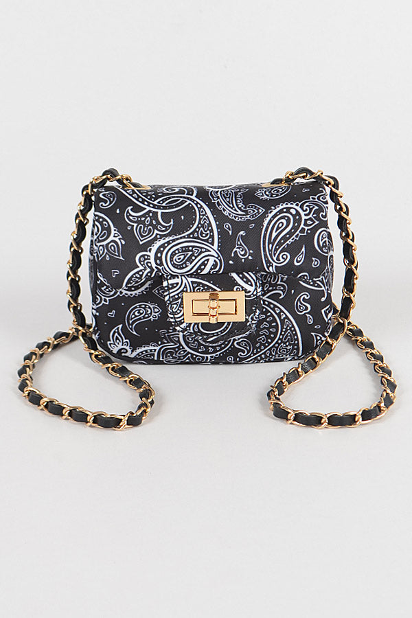 Mini Bandana Print Crossbody Purse - Trendznstuff