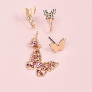 Butterflies Everywhere 4pcs Earring Set - Trendznstuff