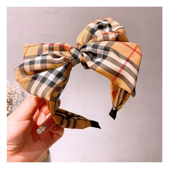 Plaid Bow Headband - Trendznstuff